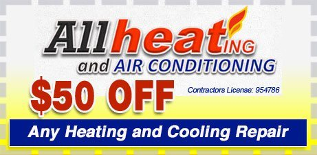 Fifty off any heating and cooling repair mountain view