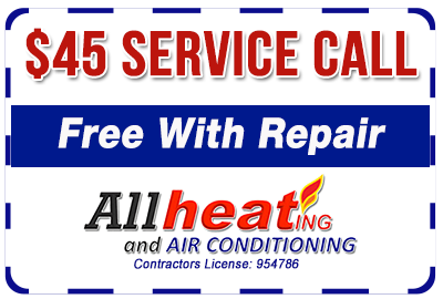 $45 service call - free with repair coupon