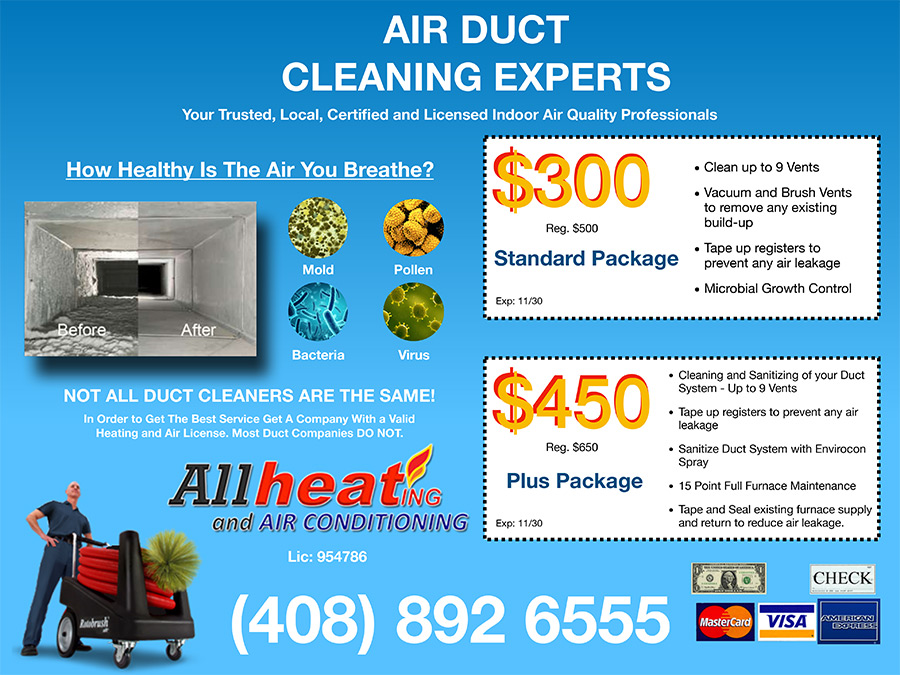 duct cleaning specials